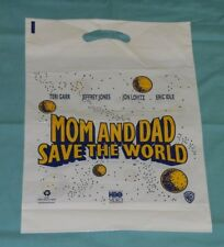 video store promo promotional MOM AND DAD SAVE THE WORLD PLASTIC SHOPPING BAG