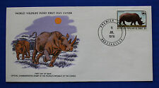 Congo (455) 1978 Endangered Animals - Rhinoceros WWF FDC