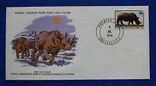 Congo (455) 1978 Endangered Animals - Rhinoceros Wwf Fdc