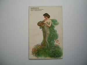 Postcard  by Artist W. Haskell Coffin  «Nasturtium»