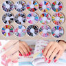 1Box 3D Nail Art Tips Gem Crystal Glitter Rhinestone Manicure Tip DIY Decoration