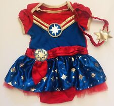 NEW! Captain Marvel Cosplay Costume Tutu Dress & Headband-Toddler Baby 12 Months