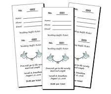 56 Personalized Wedding Bridal Shower Raffle Tickets