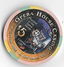 Opera House $5.00 Chip Phantom Of The Opera 1996 North Las Vegas Nevada