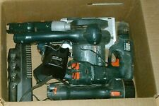 Black & Decker Battery Power Tool Set Drill Saw Lantern 2 Drivers 2 Chargers