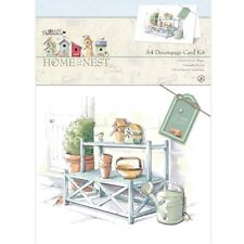 A4 DECOUPAGE CARD KIT - Home to Nest Collection - Docrafts Papermania