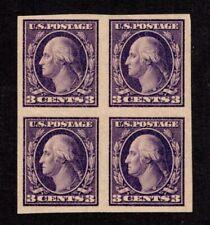 Oas-Cny 8452 Scott 484 –1918 3c Washington violet imperforate type Ii 2Nh-2M $80