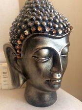 Exquisite Large Buddhas Head Statue. Adorned In COLORADO Swarovski Crystals