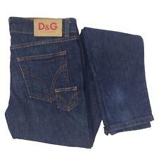 DOLCE & GABANNA Dark Blue Wash Skinny Lightly Distressed Jeans W26 L32
