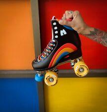 Moxi Rainbow Rider Roller Skates Asphalt Black Size 6 Woman 7-7.5 Fast Shipping