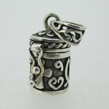 Sterling Silver Message Prayer Promise Cylinder Charm Pendant