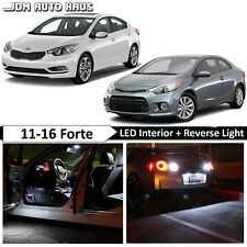 13x White Interior Reverse LED Lights Bulbs Package Kit Fits KIA Forte 2010-2015