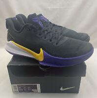 Nike Kobe Mamba Focus Lakers Basketball Shoes Purple Yellow AJ5899-005 Size 10
