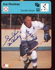 1977 Sportscaster Hockey Card Gordie Howe Autographed EXMT Hologram