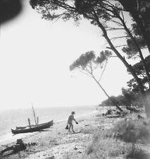 LES SALINS D'HYÈRES c. 1950 - Bateaux Plage Var - 2 Négatifs 6 X 6 - PROV 129
