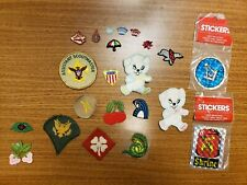 Vintage PATCH Lot Of 20 Patches Sewing Crafting Military Boy Scouts Stickers