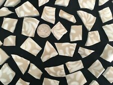 Broken China Mosaic Tiles 40+Brushed Gold Free Form Tiles by 222 Fifth