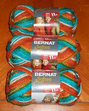 Bernat Softee Chunky Yarn Lot Of 3 Skeins (Kimono #29125)