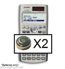 2 Batteries for Casio FC-200v calculator