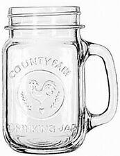 """Redneck Drinking Glass"" Libbey County Fair drinking glass/jar w/handle 16.5 oz."