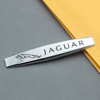 Silver Chrome Side Wing Fender Logo Badge Rear Trunk Emblem Sticker for Jaguar