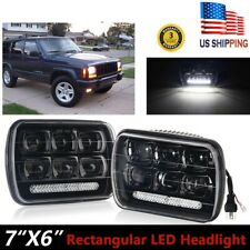 Pair DOT 240W 7x6 LED Headlights Sealed Beam for Offroad Pickup Truck Headlamp