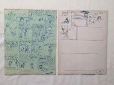 HERGE TINTIN FAC SIMILE FEULLET DE DECOUPAGE VOL 714 SYDNEY & ALPH ART / PLANCHE