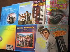 8 LP's 7 Albums GEORG SCHWENK Fröhliche Harmonika Heiter Akkordeon 2x SIGNIERT D