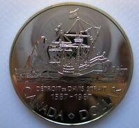 1987 CANADA 400th ANNIVERSARY JOHN DAVIS BU SILVER DOLLAR COIN