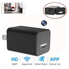 WIFI Hidden Mini Spy Camera Wall Charger Wireless HD 1080P USB Phone
