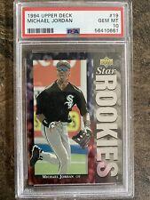 1994 Michael Jordan Upper Deck #19 Baseball Rookie Card PSA 10 Low Pop