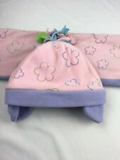 Girls Toddler Flower Hat and Scarf Set