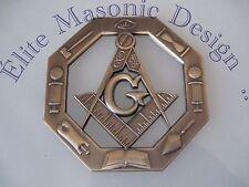 "New 3D.. Masonic Master Mason Cut out Car, Multipurpose 3"" antique bronze emblem"