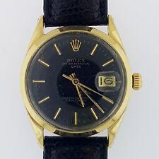 Rolex 1550 Swiss Made Vintage Men's 34mm 1978 Luxury Gold Cap Watch Black Dial~