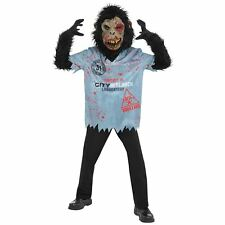 Boys Chimp Zombie Halloween Costume Science Experiment Fancy Dress Age 14-16 yrs