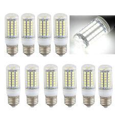 10 x E27 Bombilla Lmpara Foco 69 LED 5050 SMD 8W AC220V Luz Blanco Casa T5