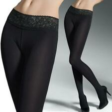Opaque Hipsters Tights Waistband Lace Marilyn Quality Women Pantyhose 100 Denier