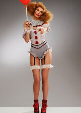 Womens Halloween Short Grey It Clown Costume