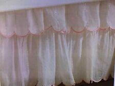 Levtex Baby Crib Bedding Charlotte Crib Skirt White Peach Tiered Metallic Gold