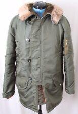 Leewald Weatherpal Vtg Zip Button Fur Hood Winter Parka Jacket Coat Men's 38