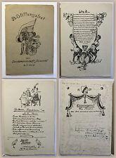 Festschrift Bierzeitung 34. Stiftungsfest 1926/27 Landsmannschaft Saxonica xz