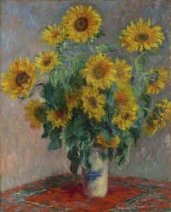 Claude Monet Bouquet of Sunflowers Giclee Art Paper Print Poster Reproduction