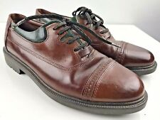 Vintage Saxone mens Brogues Brown Green Real Leather Uk Size 9 Excellent