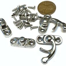 2 pieces BXR brand S Silver Nickle Wood Box Case Latch Clasp small metal a10