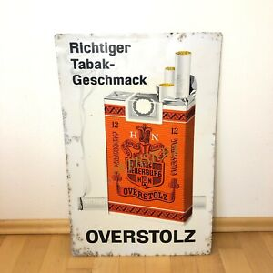 Altes Schild Overstolz Zigaretten Richtiger Tabak Geschmack Reklame selten!