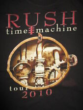 "2010 Rush ""Time Machine"" Concert Tour (Medium) T-Shirt Geddy Lee Peart Lifeson"