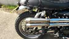 Scrambler Silencers Exhausts x2 Slip On Stainless Steel Mini Reverse Cone's
