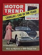 Motor Trend February 1953 Cadillac COTY - Torrey Pines Race - GM New Cars