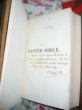 La Sainte Bible de David Martin 1820 - Belle Reliure - Protestantisme - Ex Dono