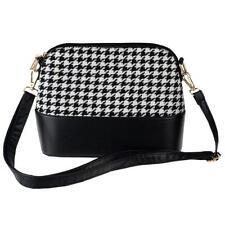 Women Houndstooth Shoulder Bags Tote Purse Lady Messenger Satchel Crossbody Bag